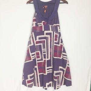 BCBG | Purple and Cream Large Dress